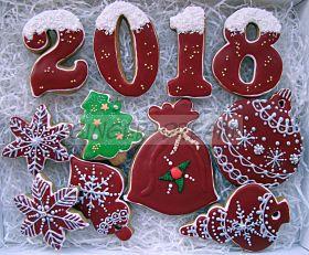 Новогодние пряники ручной работы | Новогодние подарки